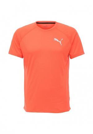 Футболка спортивная Puma. Цвет: коралловый