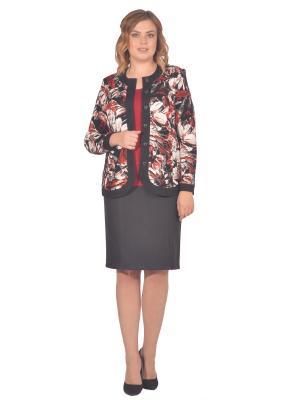 Жакет Томилочка Мода ТМ. Цвет: черный, бежевый, красный