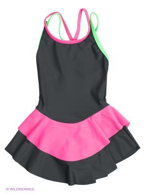 Купальник EMDI. Цвет: черный, розовый