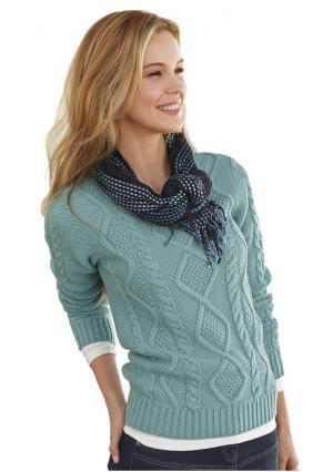 Пуловер CHEER. Цвет: зеленый