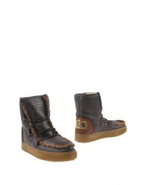 Полусапоги и высокие ботинки KARMA OF CHARME. Цвет: темно-коричневый