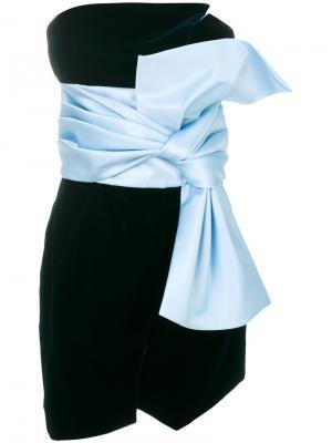 Платье с большим бантом Alexandre Vauthier. Цвет: синий