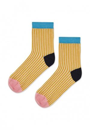 Носки Topshop. Цвет: желтый