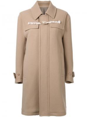 Пальто дафлкот Cityshop. Цвет: коричневый