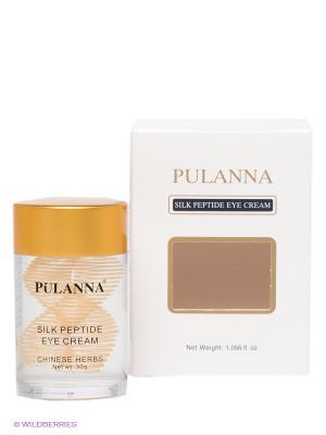 Крем для век -Silk Peptide Eye Cream 30г PULANNA. Цвет: прозрачный, золотистый