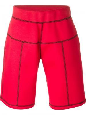 Спортивные шорты с видной строчкой Christopher Kane. Цвет: красный