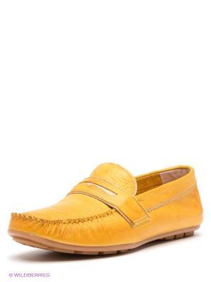 Мокасины Spur. Цвет: желтый