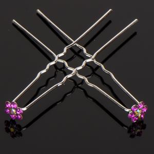 Шпилька для волос, арт. 05 205 Бусики-Колечки. Цвет: розовый