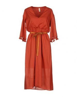 Платье до колена SOUVENIR. Цвет: кирпично-красный