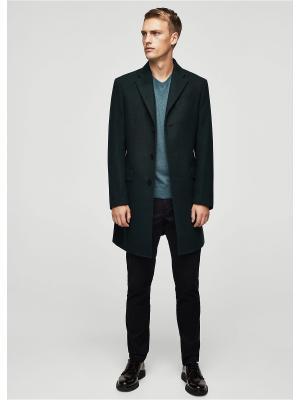 Пальто - ARIZONA1 MANGO MAN. Цвет: темно-зеленый