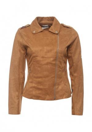 Куртка кожаная Coco Nut. Цвет: коричневый