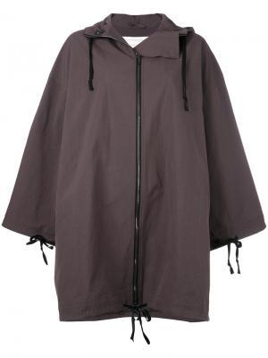 Куртка свободного кроя с капюшоном Toogood. Цвет: коричневый