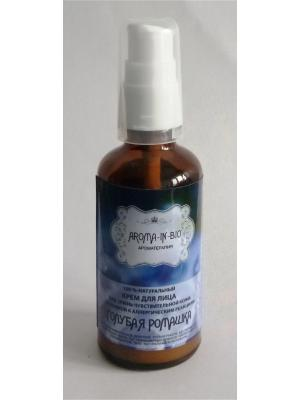 Крем для чувствительной кожи лица Голубая ромашка Aroma-in-Bio. Цвет: белый