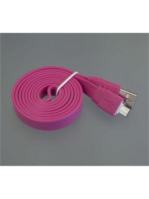 Usb кабель Pro Legend плоский micro Usb, 1м,  розовый. Цвет: розовый