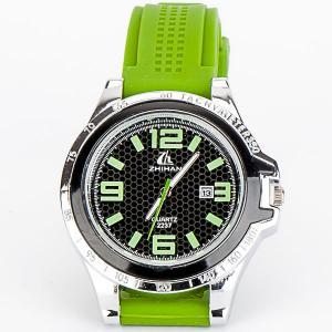 Часы Спорт силикон, арт. WT-197 Бусики-Колечки. Цвет: зеленый