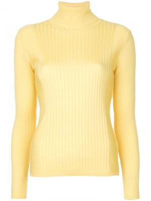 Пуловер-водолазка в рубчик Astraet. Цвет: жёлтый и оранжевый