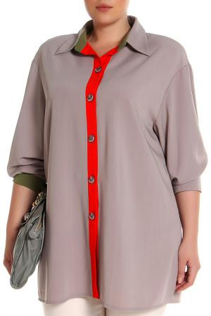 Блуза EVA Collection. Цвет: бежевый
