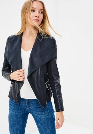 Куртка кожаная Wallis. Цвет: синий