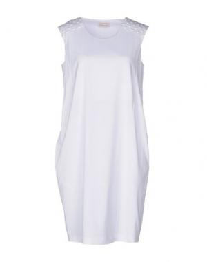 Короткое платье BARBON. Цвет: белый