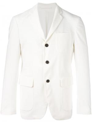 Блейзер с карманами Wooster + Lardini. Цвет: белый