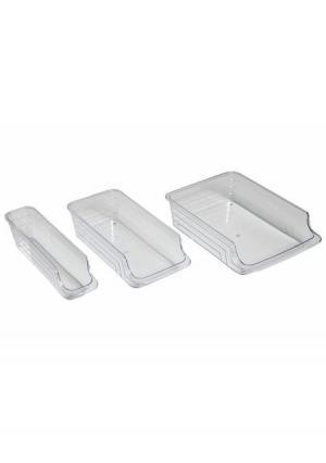 Органайзер для холодильника, 3 штуки Heine Home. Цвет: прозрачный