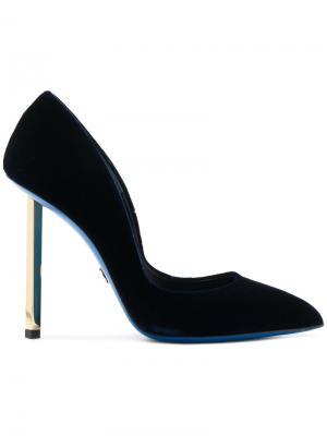 Бархатные туфли-лодочки на шпильке Loriblu. Цвет: чёрный