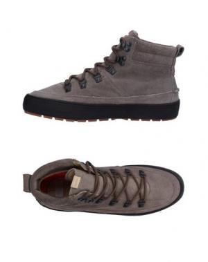 Высокие кеды и кроссовки POINTER. Цвет: серый