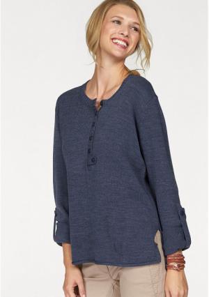 Пуловер CHEER. Цвет: синий, цвет баклажана
