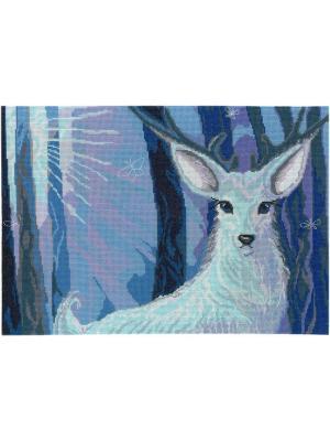 Хозяин леса набор для вышивания 35х24 см NITEX. Цвет: голубой, синий