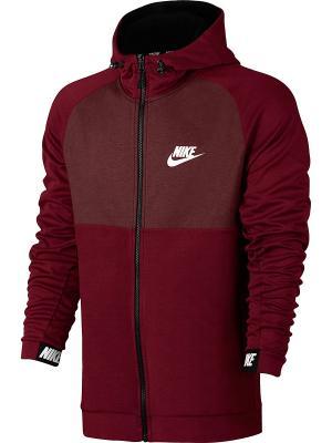 Толстовка M NSW AV15 HOODIE FZ FLC Nike. Цвет: красный