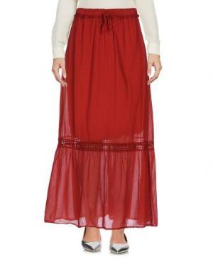 Длинная юбка KATE. Цвет: кирпично-красный