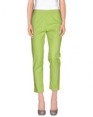 Повседневные брюки CORINNA CAON. Цвет: светло-зеленый