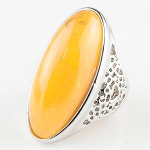 Перстень Люсия им. янтаря, арт. кп-4637 Бусики-Колечки. Цвет: желтый