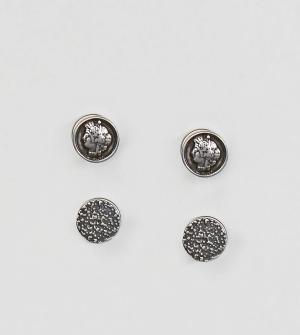 Reclaimed Vintage Набор из 2 пар серег Inspired эксклюзивно для ASOS. Цвет: серебряный