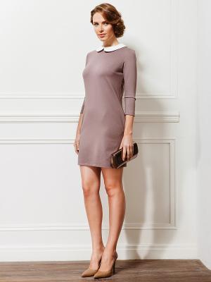 Платье La vida rica. Цвет: серо-коричневый, белый