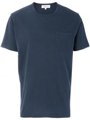 Футболка с нагрудным карманом YMC. Цвет: синий