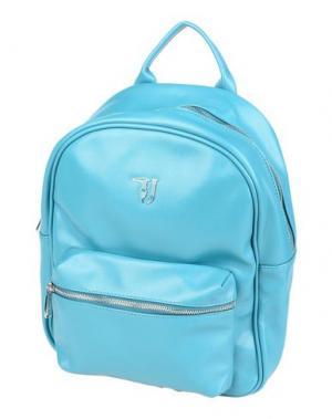 Рюкзаки и сумки на пояс TRUSSARDI JEANS. Цвет: бирюзовый