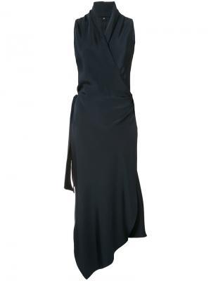 Платье с запахом Victor Peter Cohen. Цвет: синий