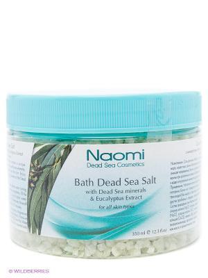 Соль Мертвого моря с экстрактом эвкалипта Naomi Dead Sea Cosmetics. Цвет: зеленый