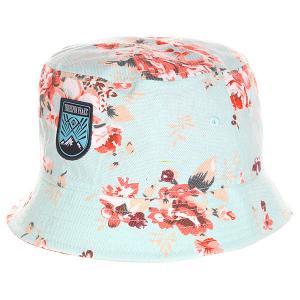 Панама  Peaks Bucket Hat Flower TrueSpin. Цвет: голубой