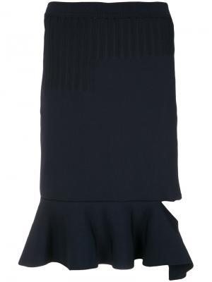Ruffled midi skirt Gloria Coelho. Цвет: чёрный
