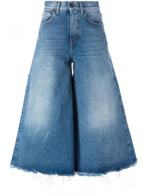 Расклешенные укороченные джинсы Off-White. Цвет: синий