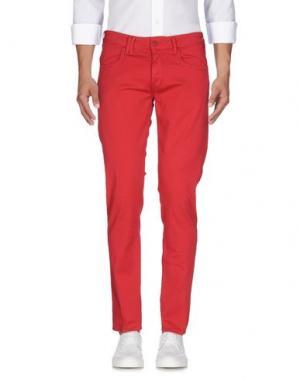 Джинсовые брюки CYCLE. Цвет: красный