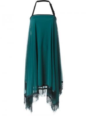 Платье с бахромой Jean Paul Gaultier Vintage. Цвет: зелёный
