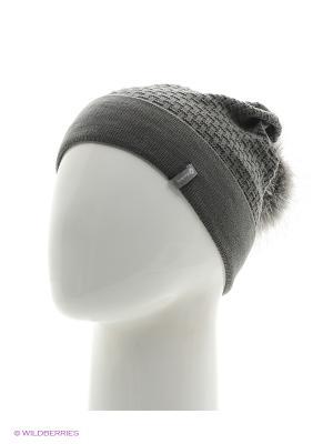 Ребека Беркле шапка женская с помпоном Berkle. Цвет: темно-серый