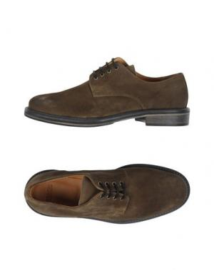 Обувь на шнурках BASE. Цвет: зеленый-милитари