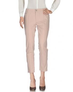 Повседневные брюки HENRY COTTON'S. Цвет: светло-розовый