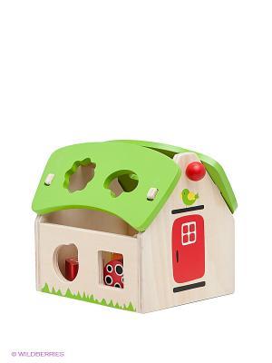 Деревянный сортер Летний домик Toys Lab. Цвет: салатовый