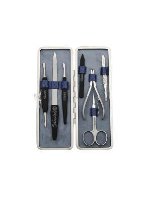 Маникюрный набор Solinberg Comfort Line FR-1492, 7 предметов , футляр - кожа.. Цвет: серый