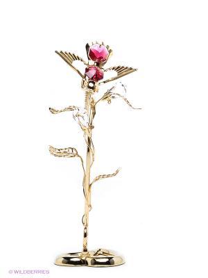 Композиция Колибри Юнион. Цвет: золотистый, малиновый, прозрачный